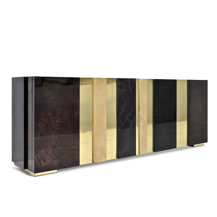 Scala Luxury Gateau Cabinet In Lacquered Goatskin And Brass. #SouthHillHome  #luxurydesign #luxurylifestyle
