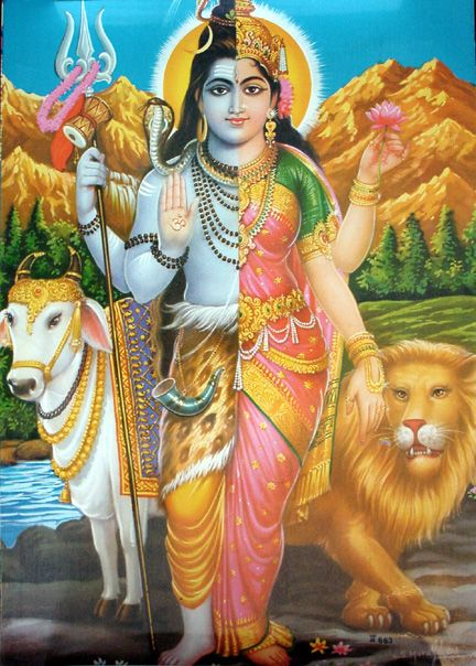 Afbeeldingsresultaat voor hindoe goden half man half vrouw
