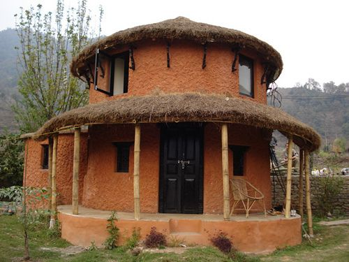 18 best images about octagonal round houses on pinterest for Residential house design in nepal