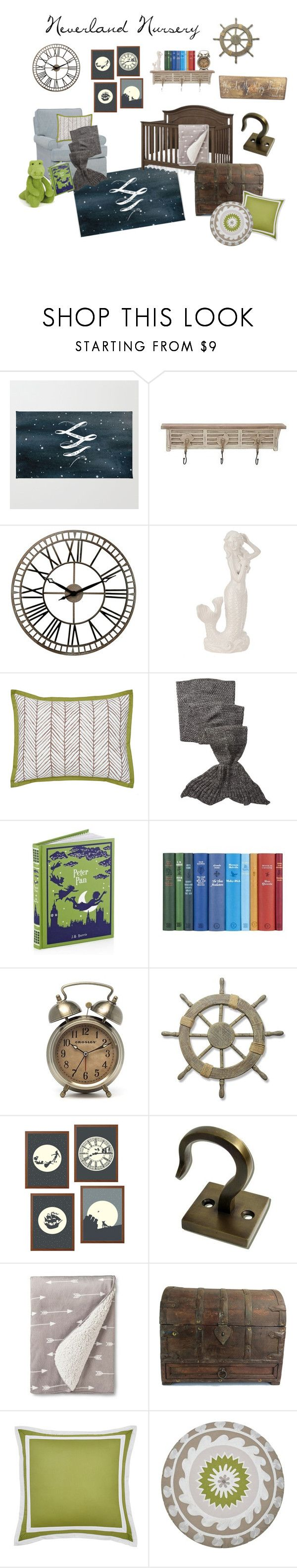 """""""Neverland Nursery"""" by krisannebaker on Polyvore featuring interior, interiors, interior design, home, home decor, interior decorating, Chaney, WestPoint Home, Hodges and Eddie Bauer"""