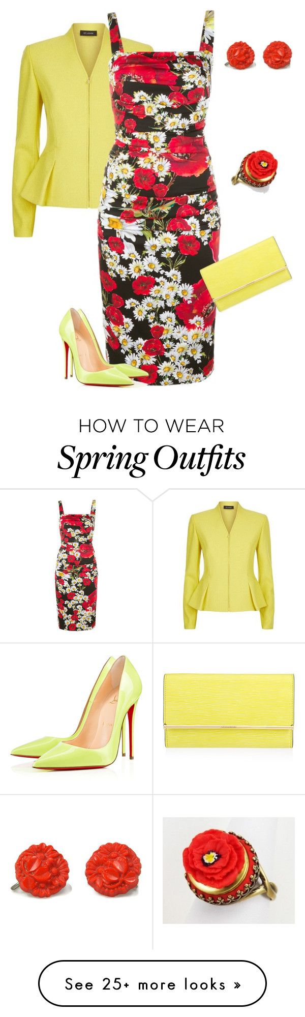 """outfit 3610"" by natalyag on Polyvore featuring St. John, Dolce&Gabbana and Henri Bendel"