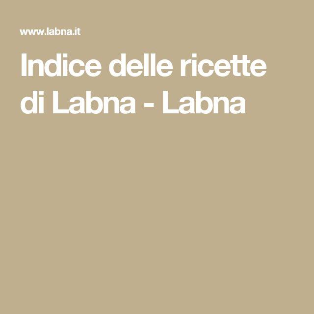 Indice delle ricette di Labna - Labna