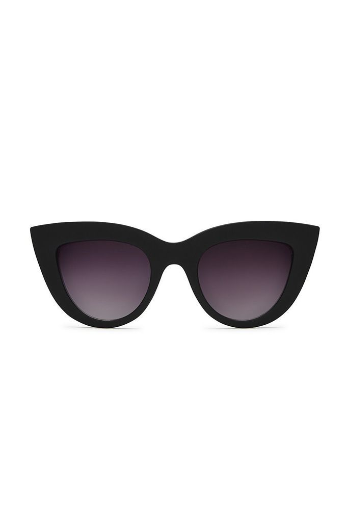 QUAY KITTI SUNGLASSES IN BLK/SMK