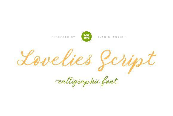 TT Lovelies Script by TYPETYPE on @creativemarket