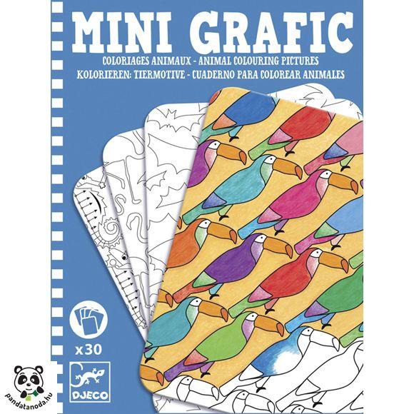 Mini Grafic - Állatos színezők 30 db (Djeco) | Pandatanoda.hu Játék webáruház
