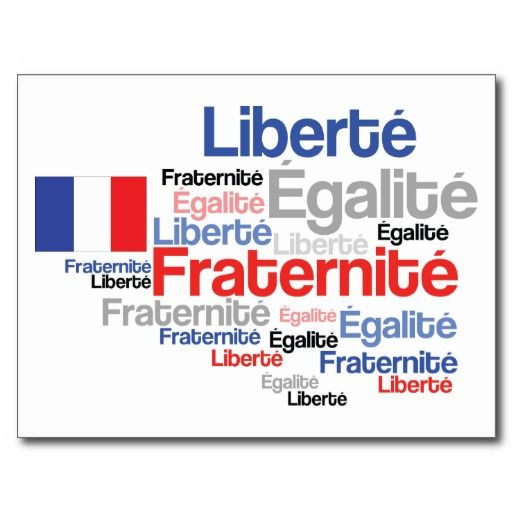Happy Bastille Day French Liberty Equality Freedom Card (also available as poster!)