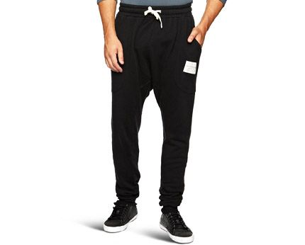 Black Drop Crotch Jogging Pants
