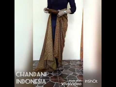 22 best tutorial kain images on Pinterest  Batik dress Sarongs