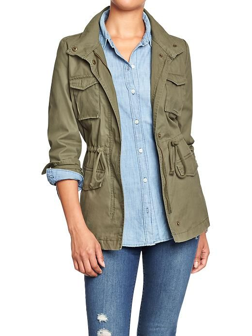 Green Canvas Jacket  Women's Canvas Utility Jackets Product Image