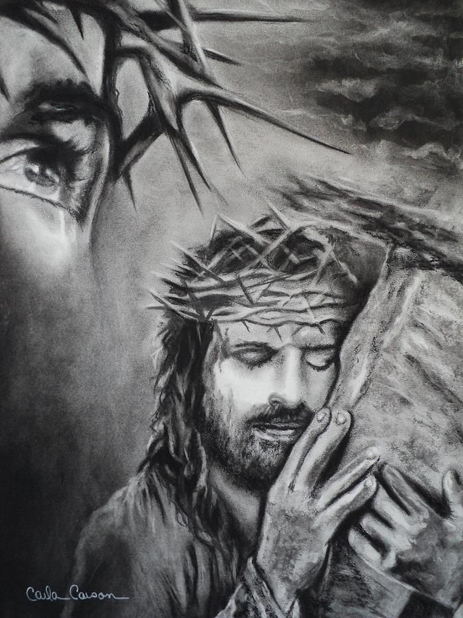 Christ by Carla Carson | Jesus drawings, Christian ...