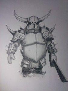 Clash of Clans fan art. P.E.K.K.A. http://dezigningart.com/gallery/ #ClashofClans