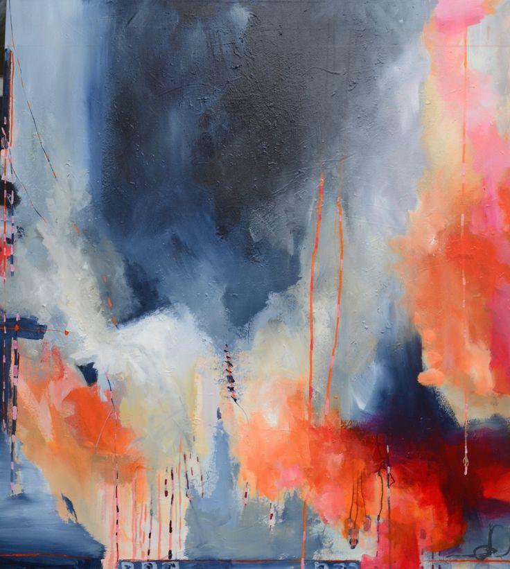 Rise with the sun 90X100 cm. Acrylic on canvas. made by Naja Duarte