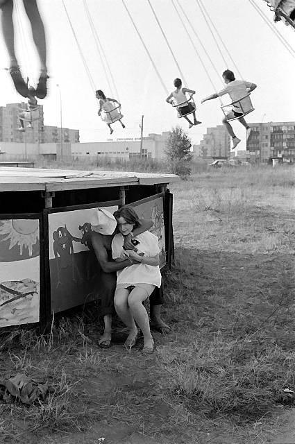Amusement park, photo by Bogdan Dziworski.