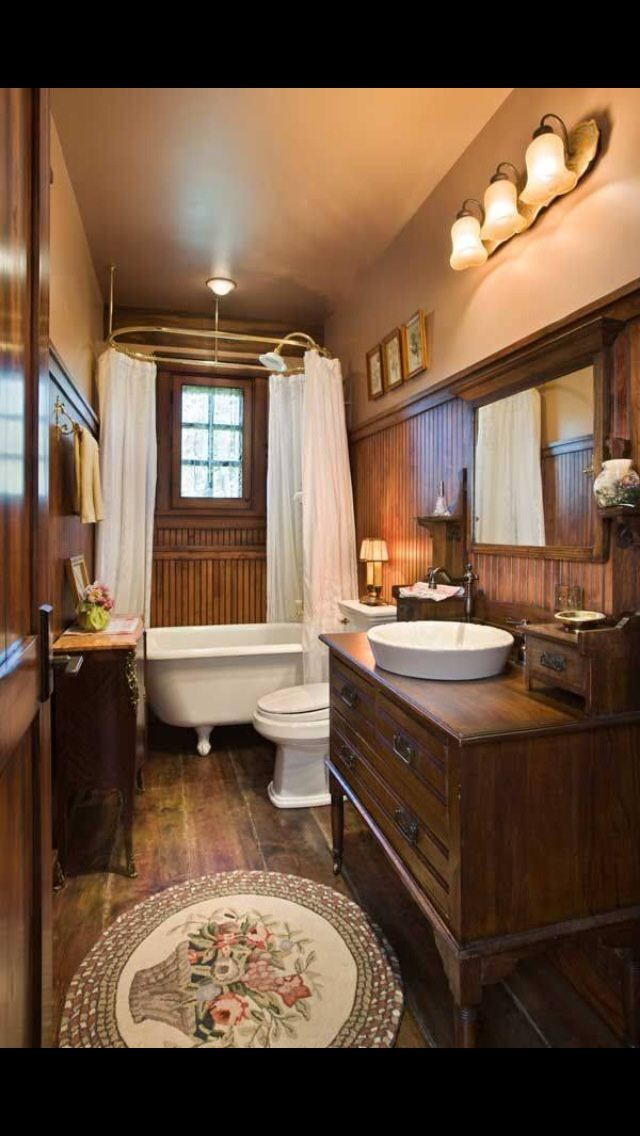 Pin by ken w on log home ideas | Rustic bathroom designs ...