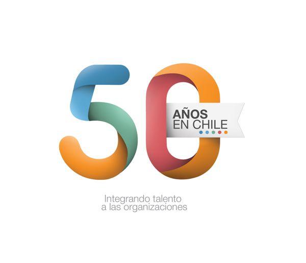 Logo 50 años / Manpower en Chile by Ño pancho Roto chileno