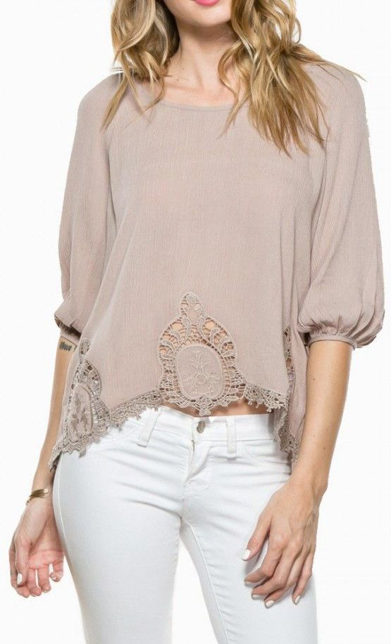 Tula Blouse in Taupe