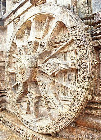 The Wheel Of Sun God's Chariot At Konark Temple
