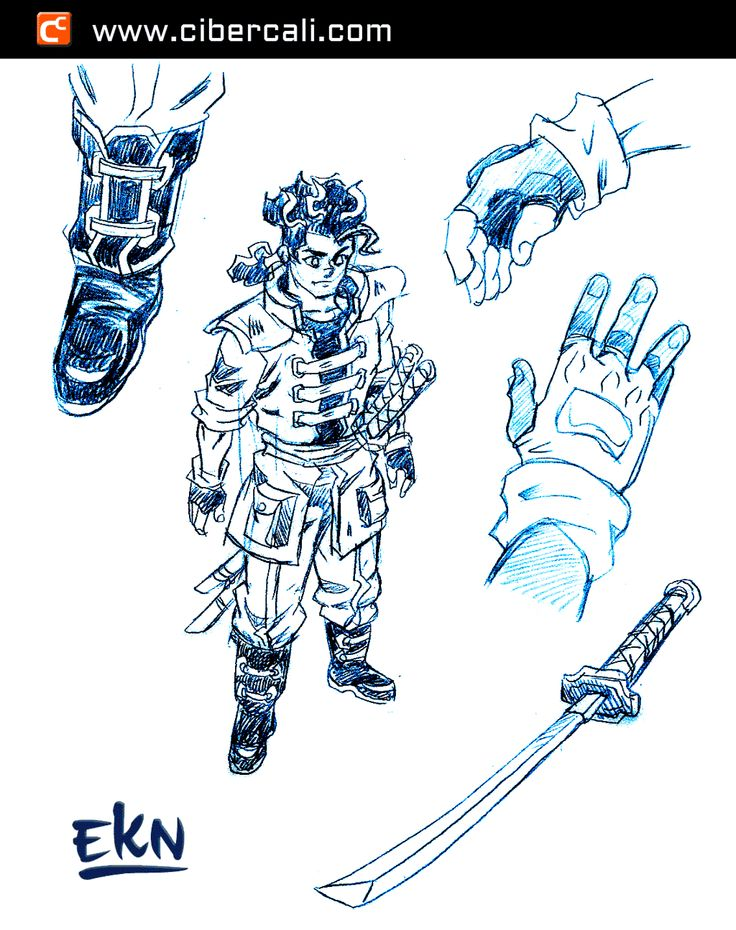 Dibujo de Yugga Kintana (Diseño de Personaje 2) por EKN | EKN: Mis Dibujos de Anime Manga