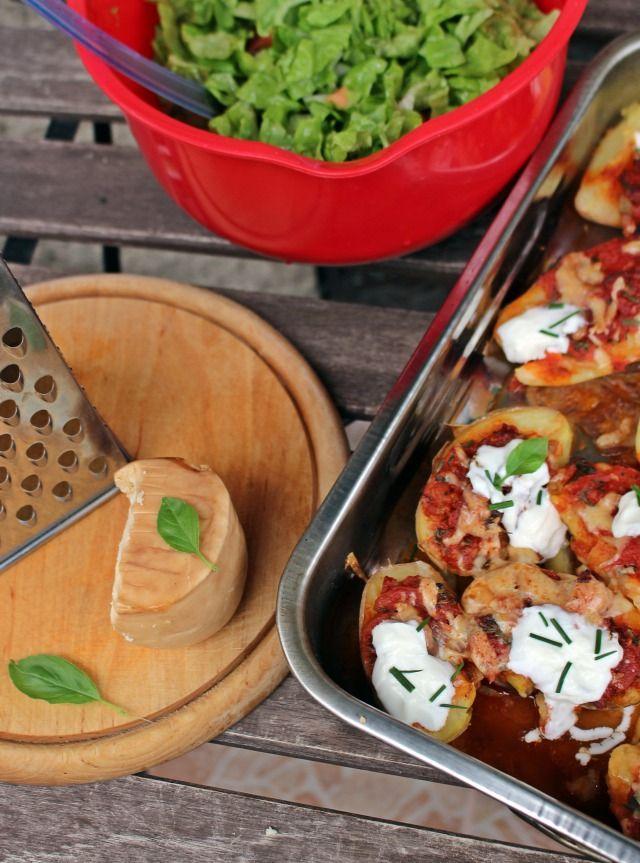 krumpli burgonya paradicsom szalámi zöldfűszer bazsalikom snidling fokhagyma paradicsomkonzerv rohanós vacsorák