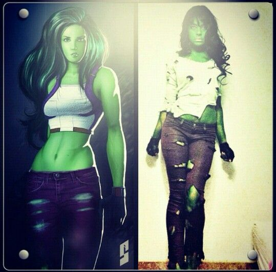 She Hulk aka Jennifer Walters / DIY Halloween Costume / Comic Book / Villan