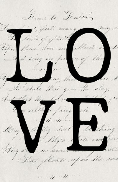 """Love"" typographical design/word art. Elegant and minimalist. This would be really pretty to print out!"