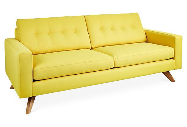 "Laura 83"" Sofa, Mustard on OneKingsLane.com"