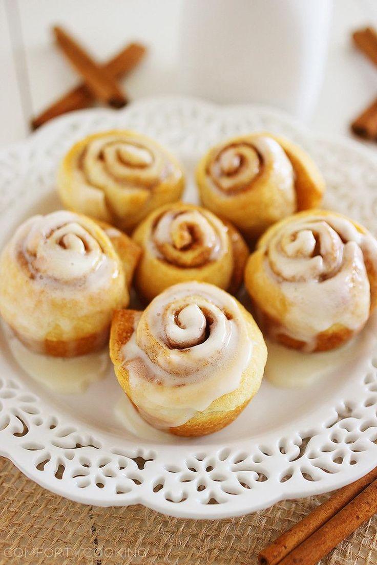 Quick easy mini cinnamon rolls http www thecomfortofcooking com