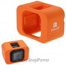PULUZ PU159E SUPPORTO CASE ORIGINALE GALLEGGIANTE WINDSURF SURF ACQUA ORANGE ARANCIONE PER GOPRO HD HERO 4 SESSION NUOV - SU WWW.MAXYSHOPPOWER.COM