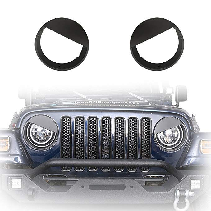 U Box Black Front Headlight Cover Trim Angry Bird Eyes Style Abs