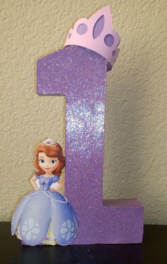 Sofia the first centerpiece princess by OohLaLaHairRibbons on Etsy, $25.00