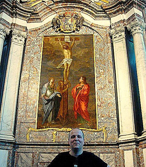 Restauratie in kerk Tervuren. Atelier for restoration of paintings, sculptures and art objects. Fine Art Conservator - paintings - sculptures. conservation studio KERAT tel. 0495/513387  info@kerat.be www.kerat.be - www.art-restaurateur.fr Frederik Cnockaert. I am an independent qualified conservator restaurator of art works. I have a particular expertise in art restauration. My clients are: Antiques dealers, Private individuals, interior designers, decorators, architects, developers…