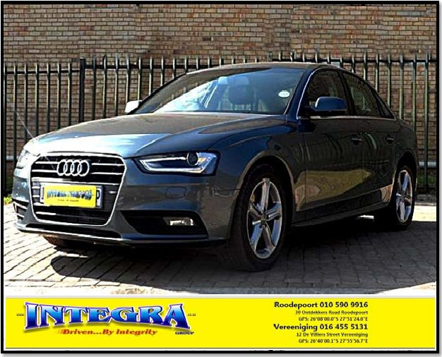 2012 Audi A4 2.0 Tdi S Multitronic for sale!!! For more info Kindly contact Integra Motors.