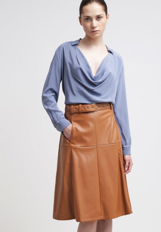 ☺ Leather skirt : Sciarpa Topshop