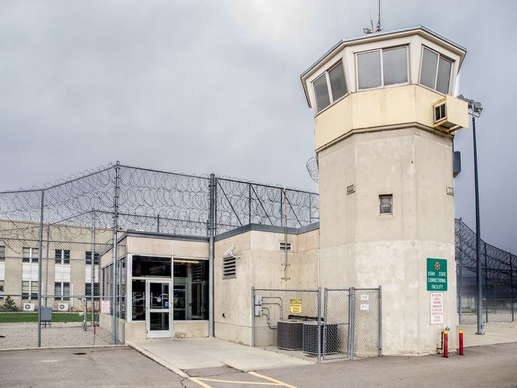 Tower 1 and Wasatch Facility employee/visitor entrance at the Utah State Prison.