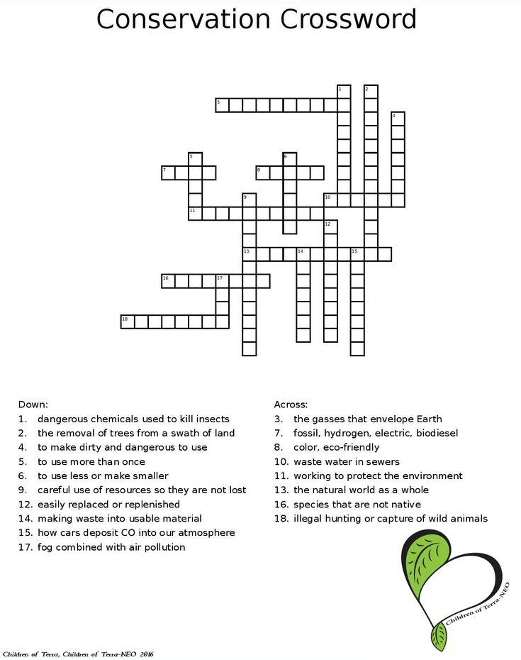 Children Of Terra Llc Crossword Dangerous Chemicals Crossword Puzzle
