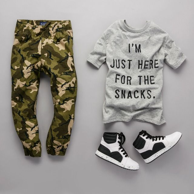 awesome Toddler Boys Short Sleeve 'I'm Just Here For The Snacks.' Graphic Tee | The Children's Place