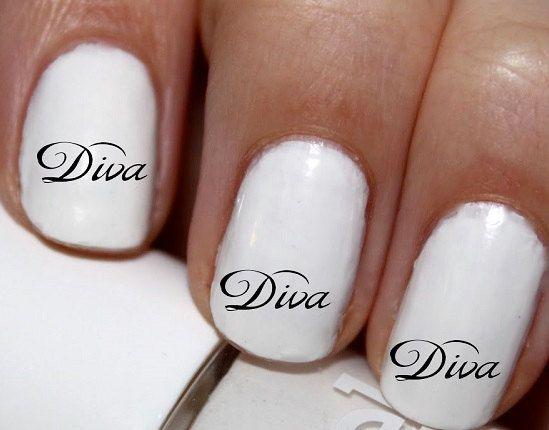 20 pc Diva Im A Diva  Nail Art Nail Decals Nail by EasyNailTrends