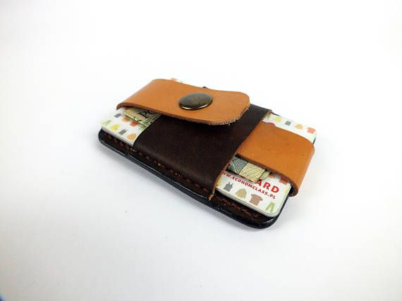 Leather card case, leather credit card holder, slim wallet, personalized wallet, mens front pocket wallet, mens leather wallet