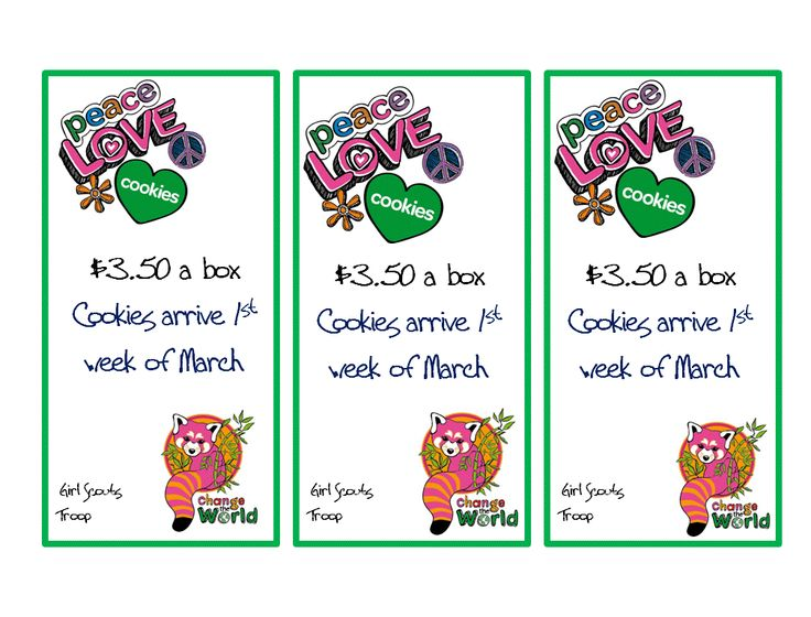 daisy girl scout cookie sales lanyard quick reminder for