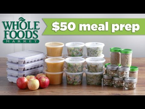 $50 Whole Foods Meal Prep Budget Challenge! - Mind Over Munch - YouTube  Terror of fat not too over the top with this one. Dark chicken meet is not the anti Christ, fer the love of Pete...