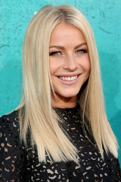Straight Hairstyles 15 gorgeous straight hairstyles stylecaster Julianne Hough Blonde Medium Straight Hairstyle