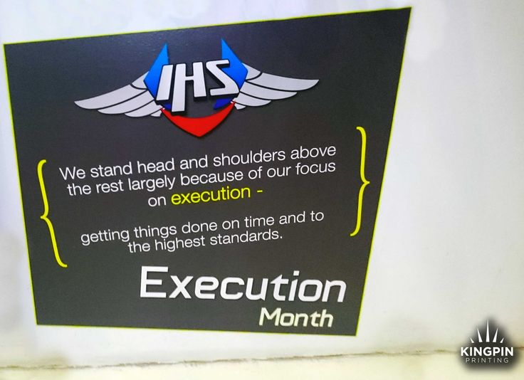 IHS Execution Month