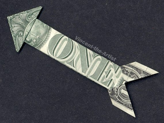 Dollar Bill Money Origami ARROW Art Piece – #Arrow…