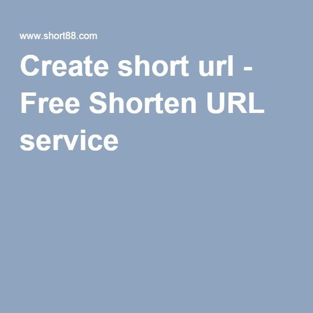 Create short url - Free Shorten URL service