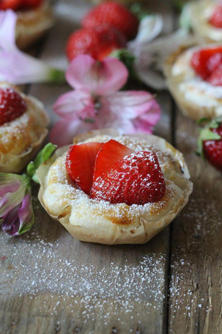 Erdbeer_Törtchen_Blätterteig