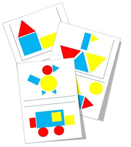 Voorbeelden logiblokken > o.a. voor ruimtelijke oriëntatie, vorm en kleur