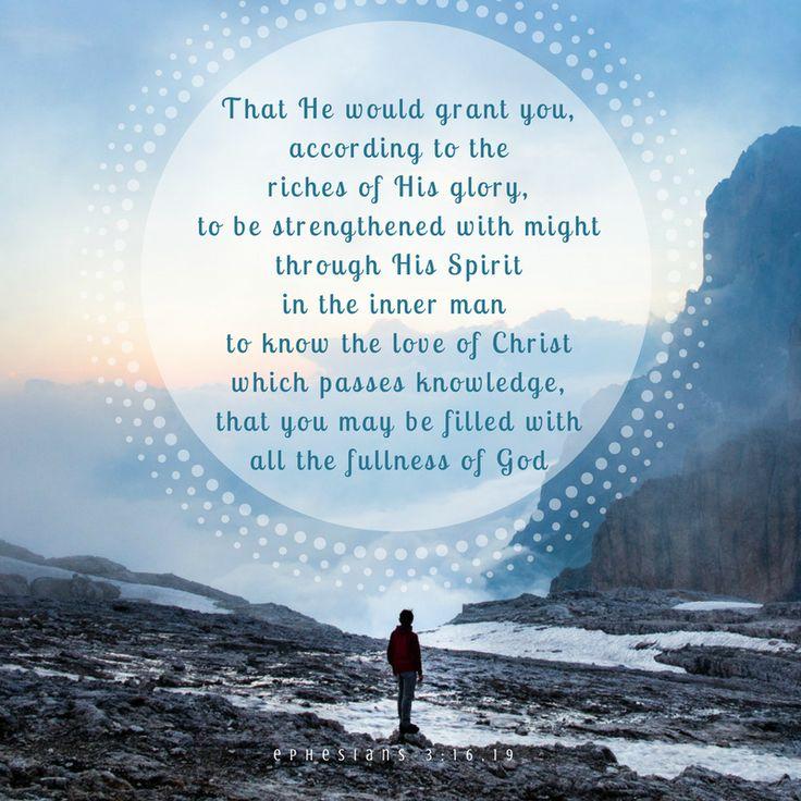 Ephesians 3:16,19