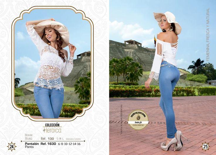 Inicia tu semana con la mejor actitud y acompañada de este hermoso look.  Pantalón tallas: 6, 8, 10, 12, 14 y 16. Ref: 1630 Blusa tallas: S-M-L Ref: 130  Divina Mujer, tú nos inspiras...