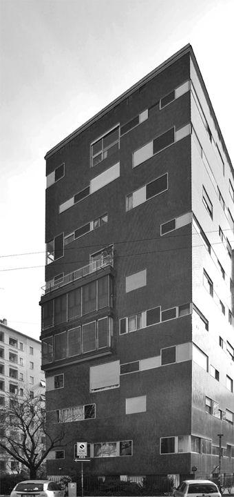 Edificio residenziale in via Ippolito Nievo 28, Milano (1955) Luigi Caccia Dominioni  (Foto di Andrea Villa)