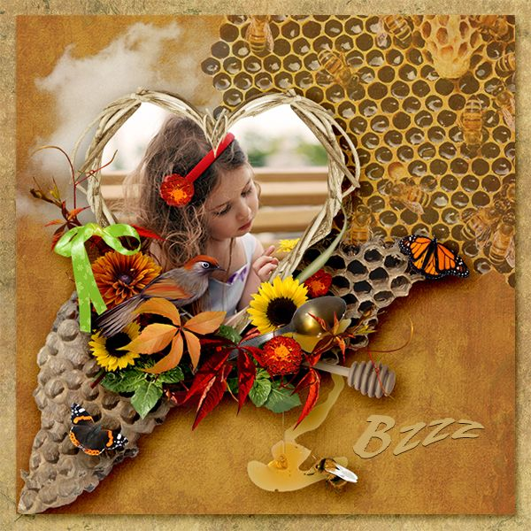 New Kit *Bzzz* by love-crea-desing http://www.digiscrapbooking.ch/shop/index.php… http://scrapfromfrance.fr/shop/index.php… Photo: Mechtaniya